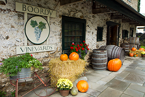 Boordy Vineyard decorated for fall.